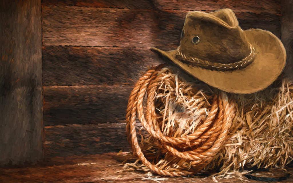 帽子とロープ