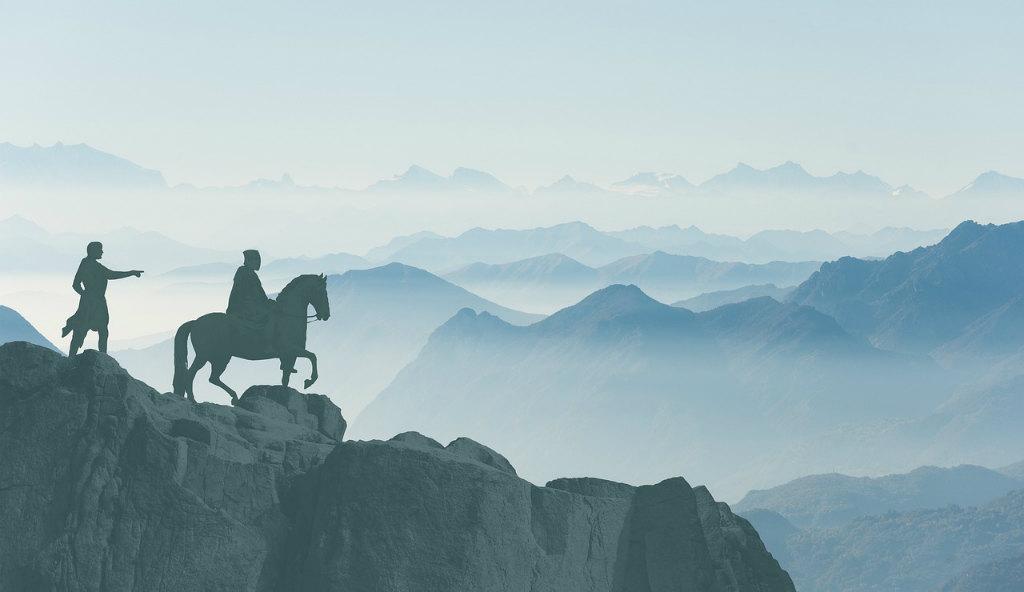 山の頂上の騎士