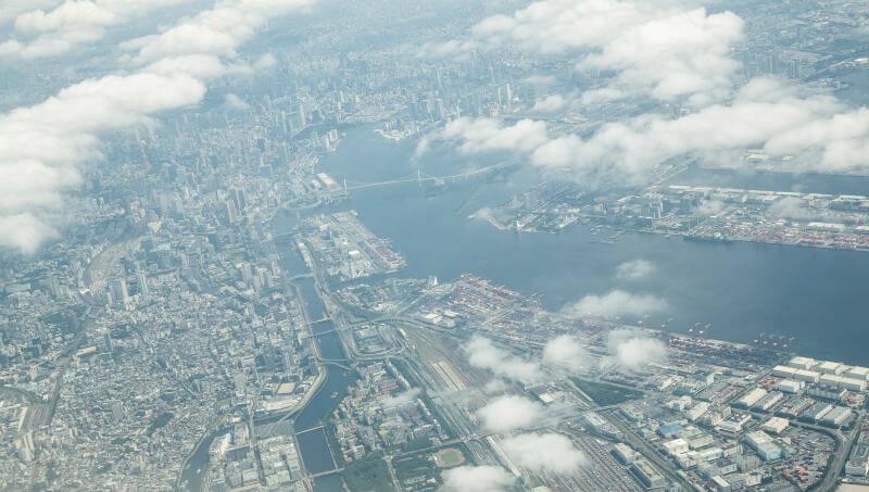 飛行船からの風景
