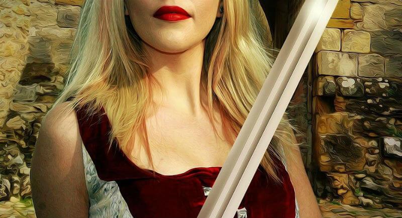 女性の剣士
