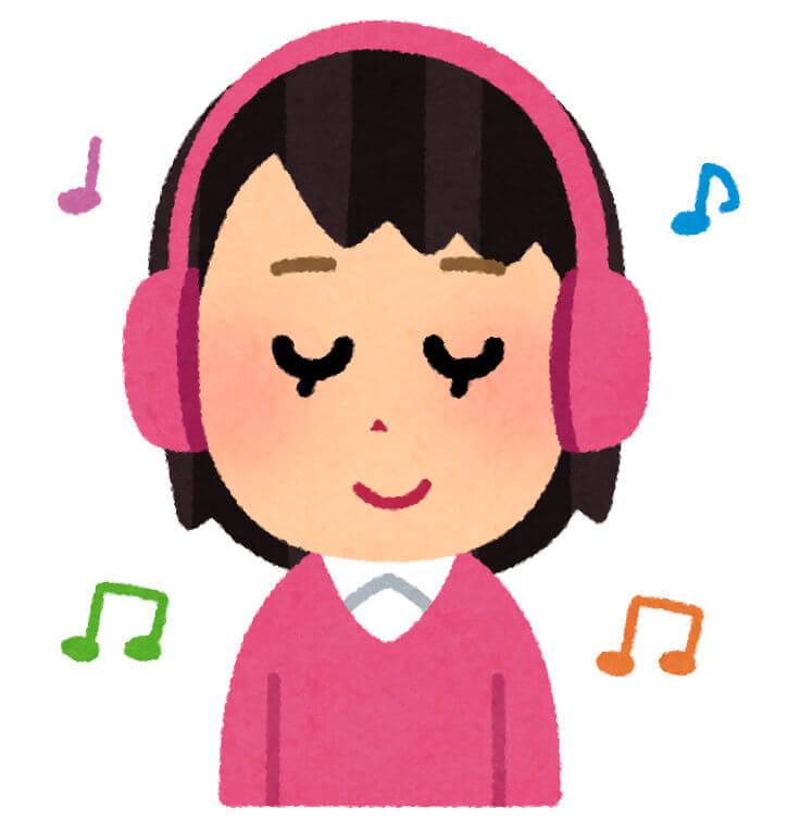 音楽を聴きながら映画を思いだしている人