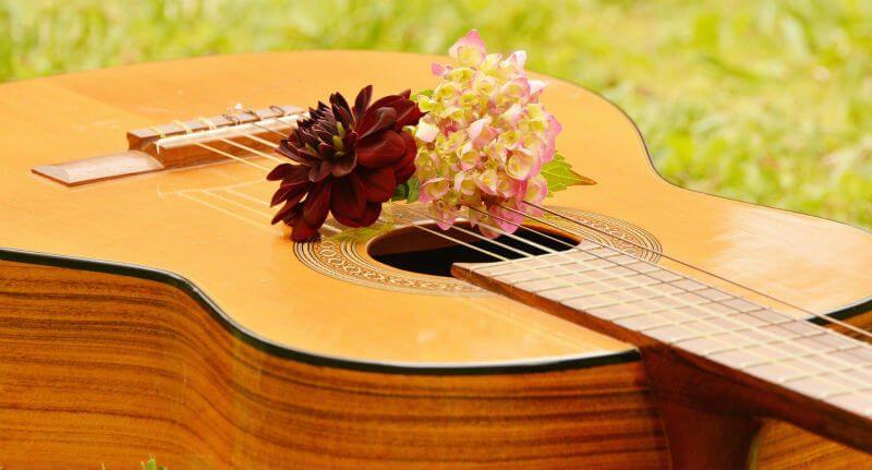 花とギター