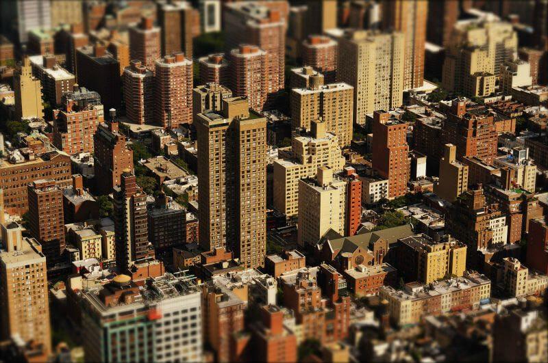 アメリカの街の風景