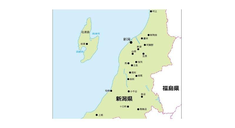佐渡島の地図